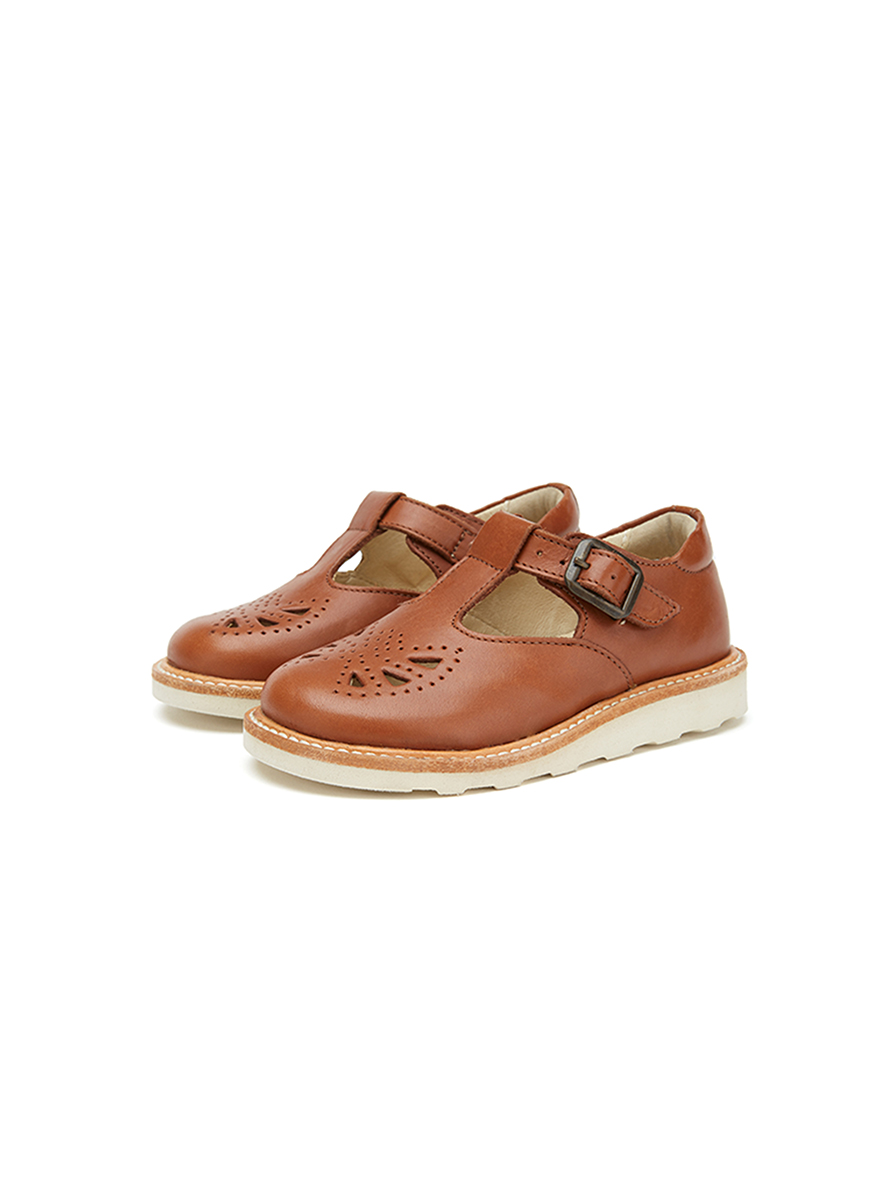 Young Soles Rosie T-Bar Leather Shoe
