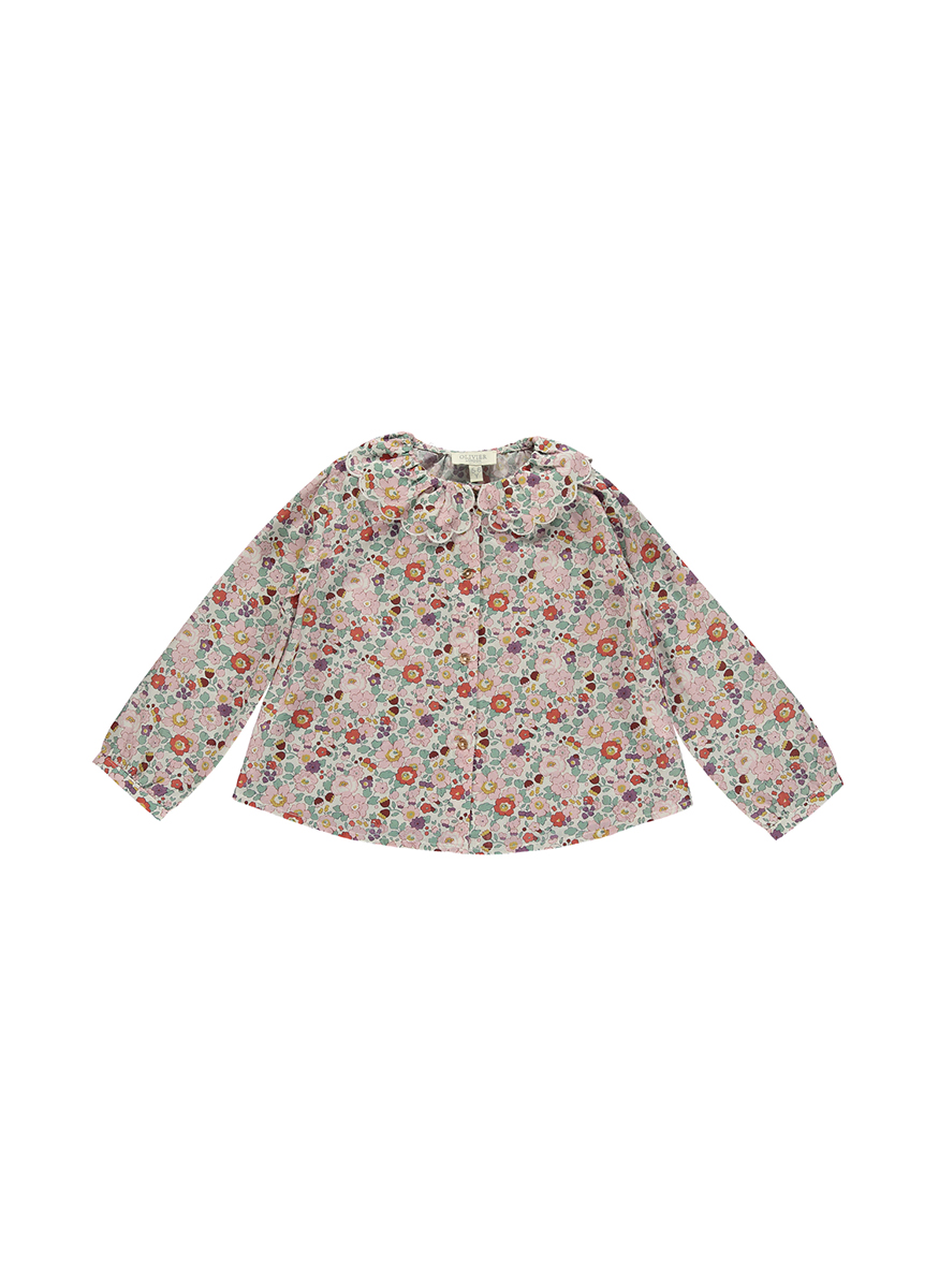 Willow Shirt with Embroidered Collar