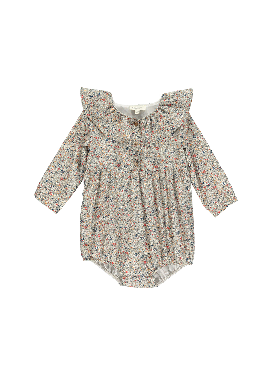 Dorothy Romper with Frill Collar
