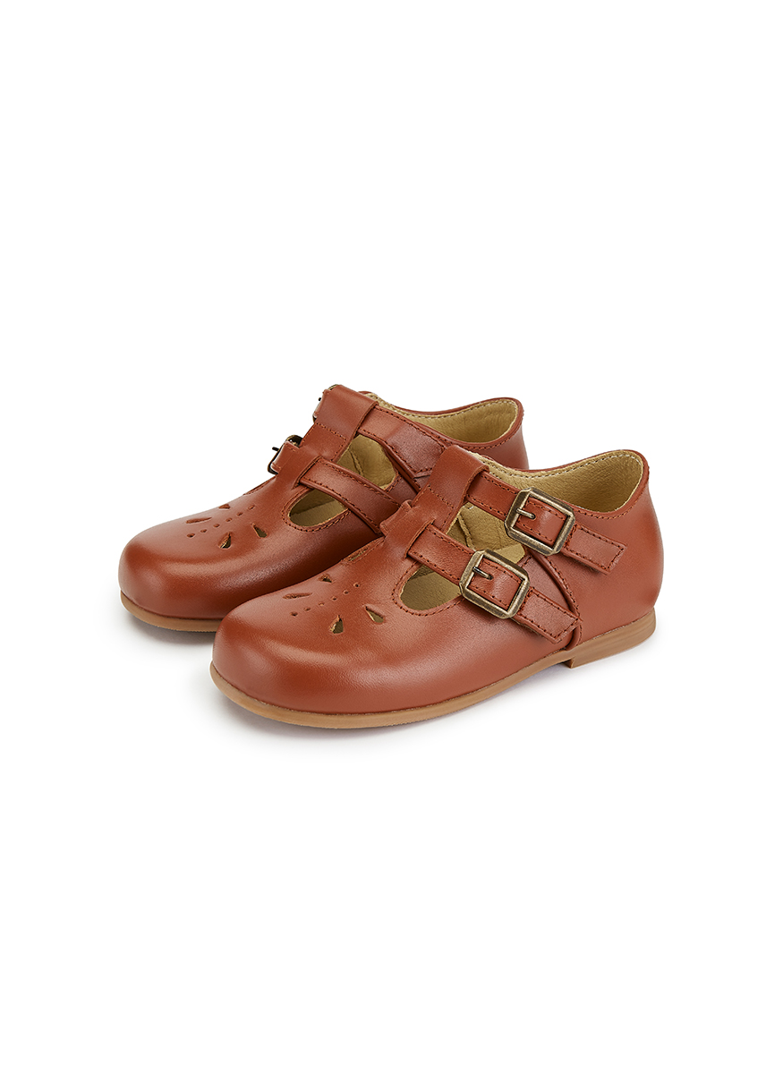 Young Soles Lucy T-Bar Leather Shoe
