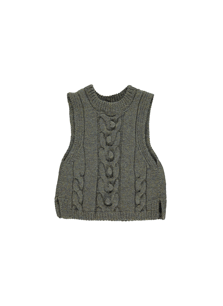 Cashmere Valeria Hand Knitted Tank Top