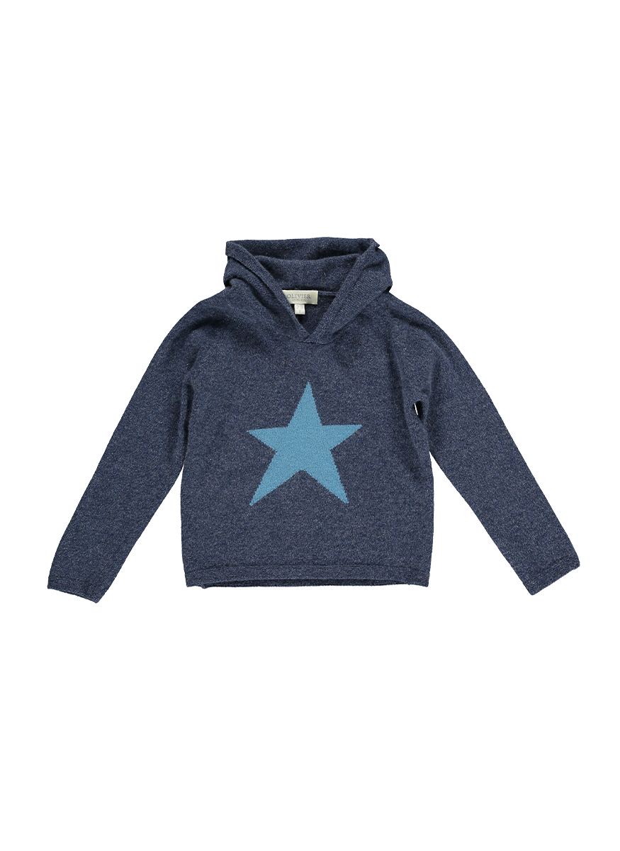 Cashmere Blend Hooded Jumper with Star
